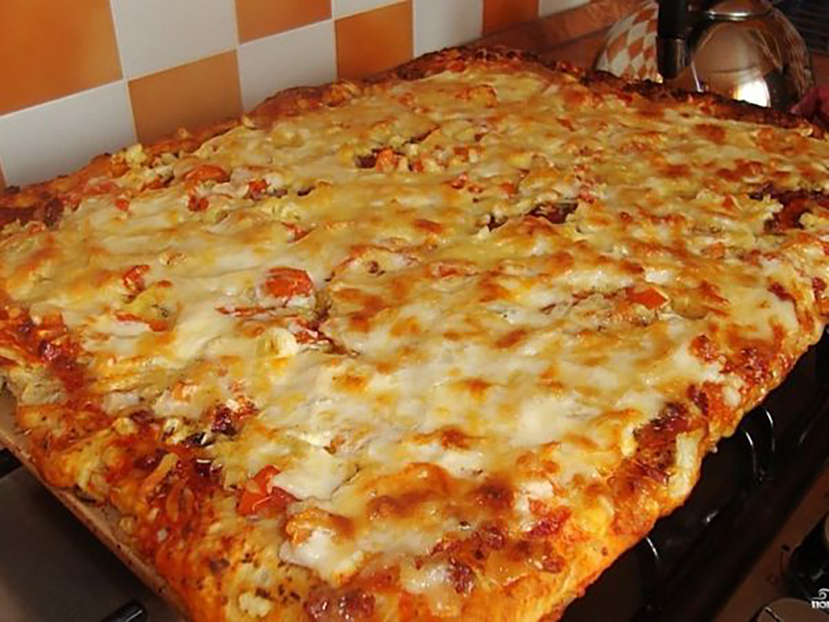 Бездрожжевое тесто для пиццы на молоке в домашних 6
